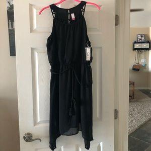 Xhilaration Black sheer tank top dress
